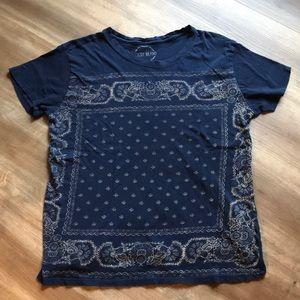 Lucky Brand Bandana T shirt
